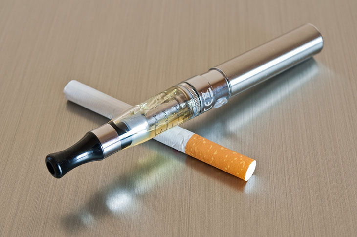 how much nicotine is in a cigarette compared to vape